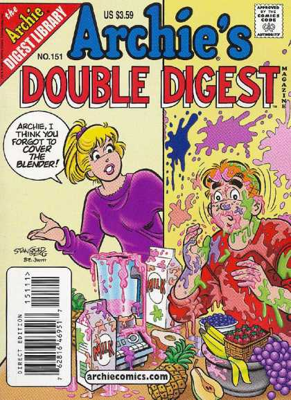 Archie's Double Digest 151 - Fruit - Blender - Food Stains - Milk - Betty