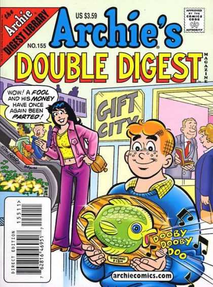 Archie's Double Digest 155 - Dumb Dumbdumb - A Fishy Wish - The Laughing Stock - Archie In Soup - The Dreamer Boy