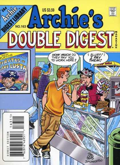 Archie's Double Digest 163 - Hot Dog Stand - Server - Customer - Concessions - Movie Theater