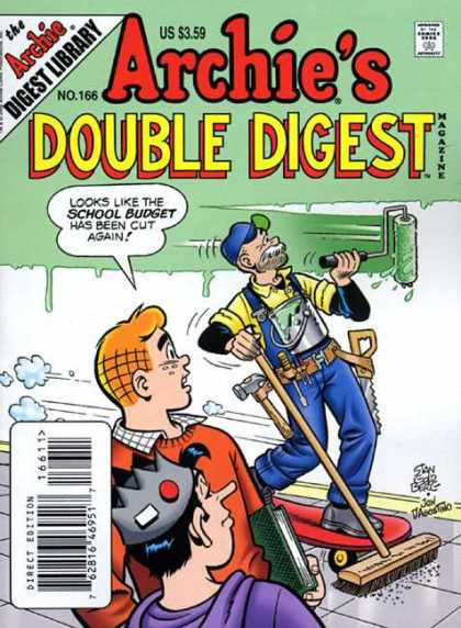 Archie's Double Digest 166 - Janitor - Cost Cutting - On Budget - Multitasking - Paint
