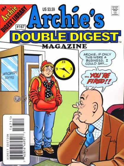 Archie's Double Digest 167 - Magazine - Clock - Door - Youre Fired - Chair