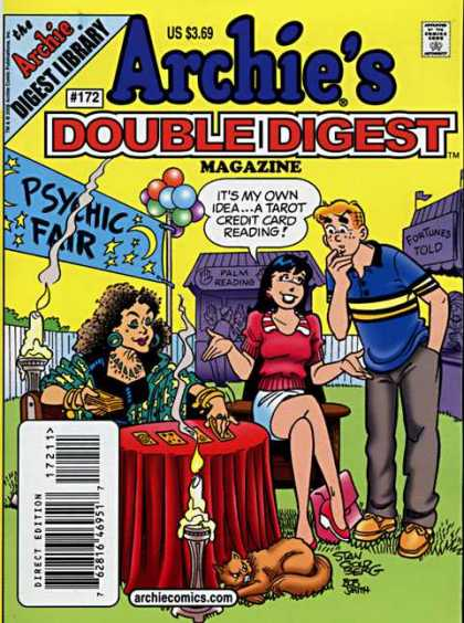Archie's Double Digest 172 - Fortune Teller - Psychic Fair - Balloons - Candle - Cat
