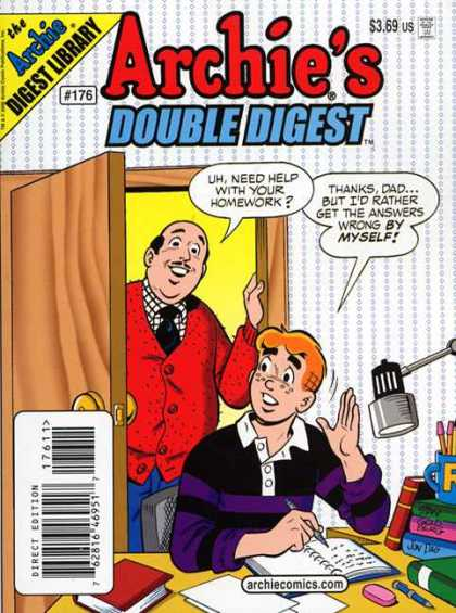 Archie's Double Digest 176 - Homework - Doorway - Books - Pencils - Digest Library