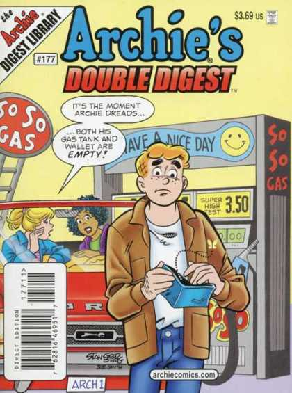 Archie's Double Digest 177 - Gas Station - Girls - Empty Wallet - Archie Comics - 177