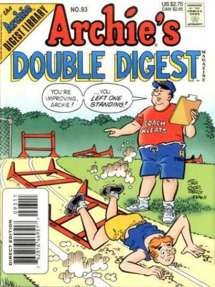 Archie's Double Digest 93 - Approved By The Comics Code Authority - Archie Digest Library - You Are Improving Archie - Direct Edition - Us 275