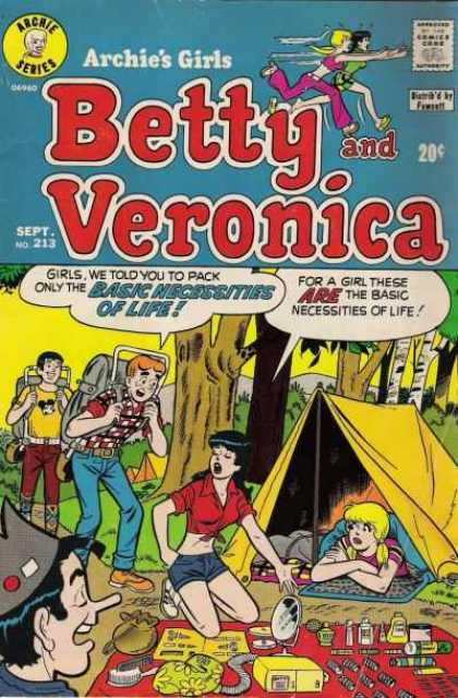 Archie's Girls Betty and Veronica 213 - Campers - Betty And Veronica - Outdoors - Ditzy Girls - Tents