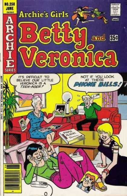 Archie's Girls Betty and Veronica 258 - Archie Series - Approved By The Comics Code Authority - No258 June - Photo Album - Phone
