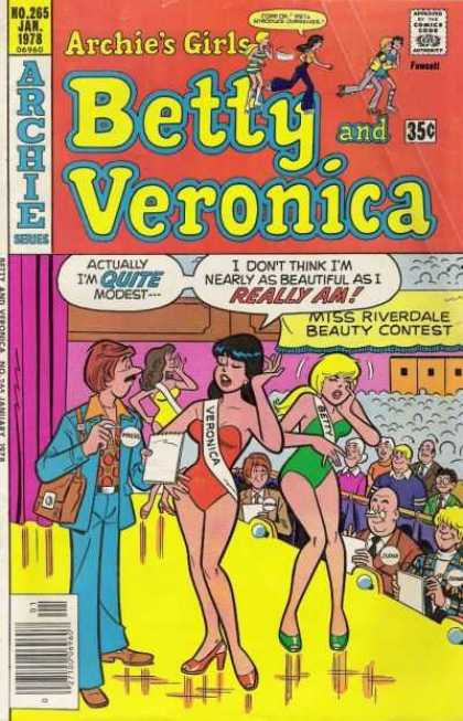Archie's Girls Betty and Veronica 265 - Contest - Hot Girls - Beauty Contest - Blue Suit - Audience