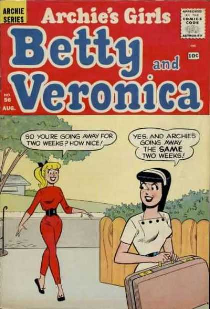 Archie's Girls Betty and Veronica 56