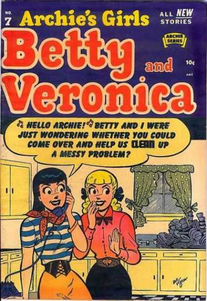 Archie's Girls Betty and Veronica 7 - All The Stories - Archie Series - Woman - Phone - Flour