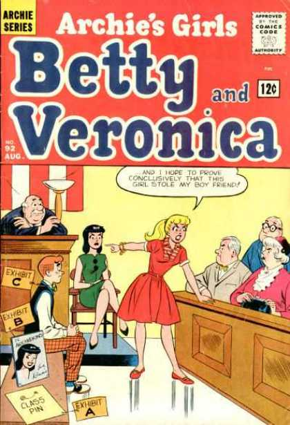 Archie's Girls Betty and Veronica 92 - Court - Jury - Judge - Evidence - Stolen Boyfriend