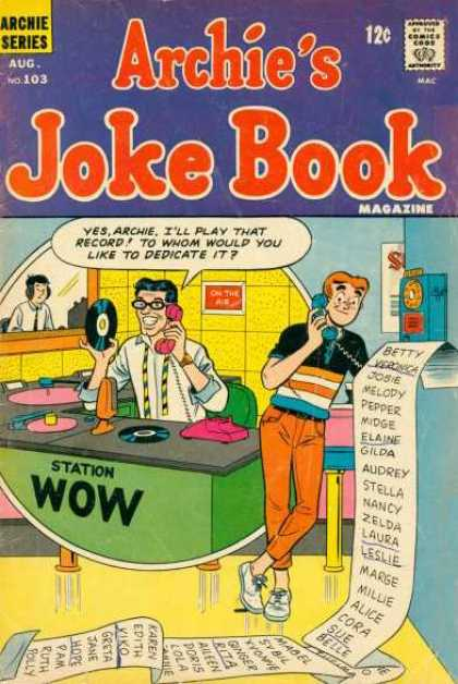 Archie's Joke Book 103 - Dj - Teen - Phone - Lp - Desk