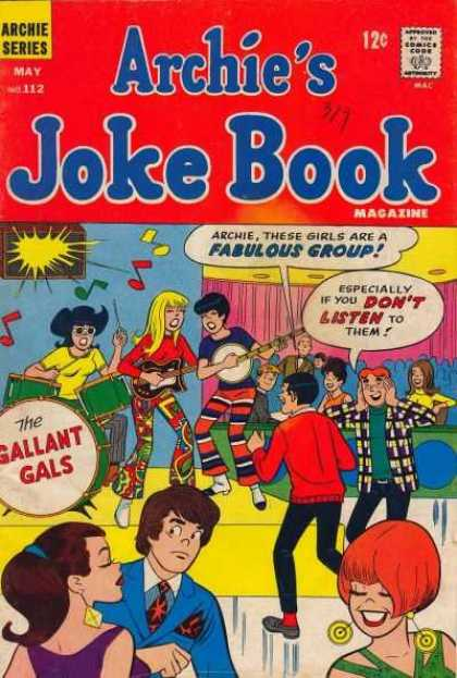 Archie's Joke Book 112 - Archies Joke Book - May No 112 - Band - Archie - Betty And Veronica