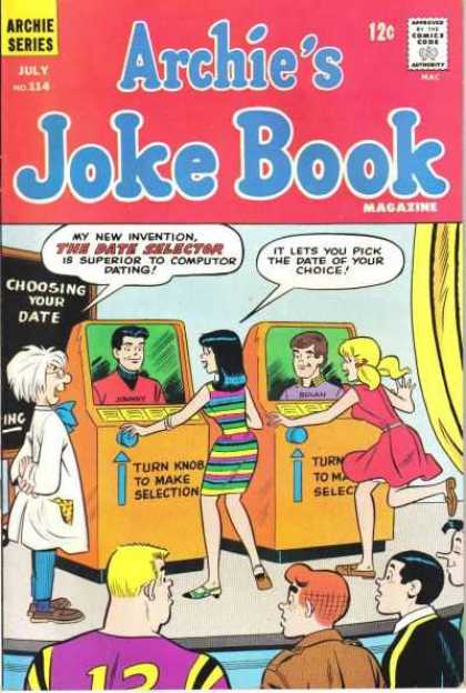 Archie's Joke Book 114 - The Date Selector - Jughead - Veronica - Betty - Reggie