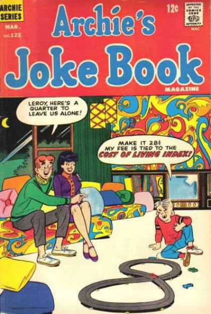 Archie's Joke Book 122 - Kid Playing With Cars - Babysitting - Couple Wants To Be Left Alone - Funky Room - Archie Series