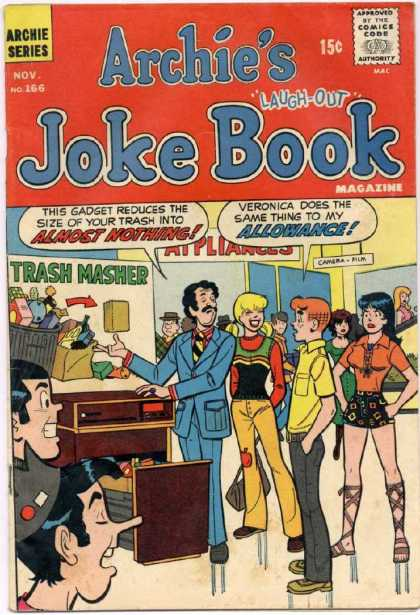 Archie's Joke Book 166 - Laughs - Old Comic - New Product - Archie - Junkhead