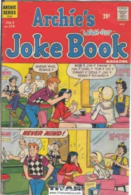 Archie's Joke Book 174 - Ronnie - Soda - Fountain - Table - Guess Who