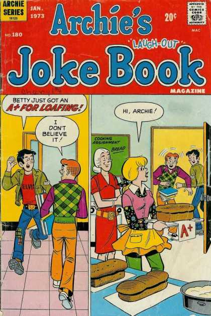 Archie's Joke Book 180 - January - Betty - Speech Bubble - Laugh-out - Bread