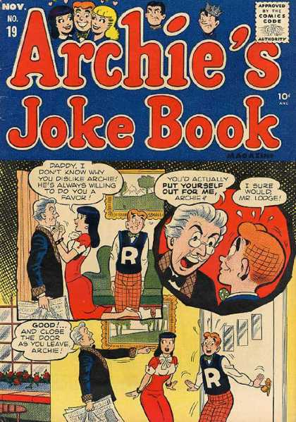 Archie's Joke Book 19 - Veronica - Archie - Mr Lodge - No 19 - Living Room