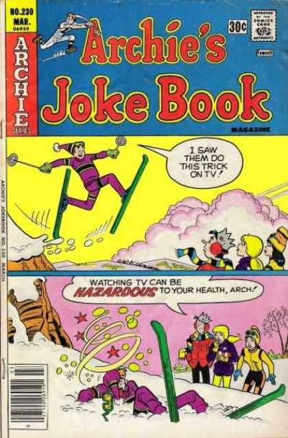 Archie's Joke Book 230 - Archie Series - Approved By The Comics Code Authority - Hazaroous - No230 - Mar