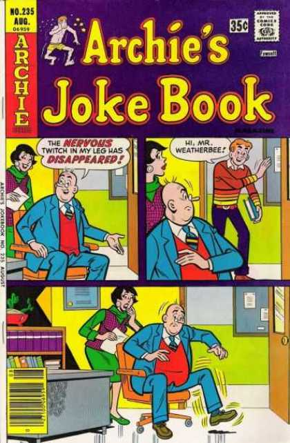 Archie's Joke Book 235 - Approved By The Comics Code Authority - No235 Aug - Chair - Book - Tie