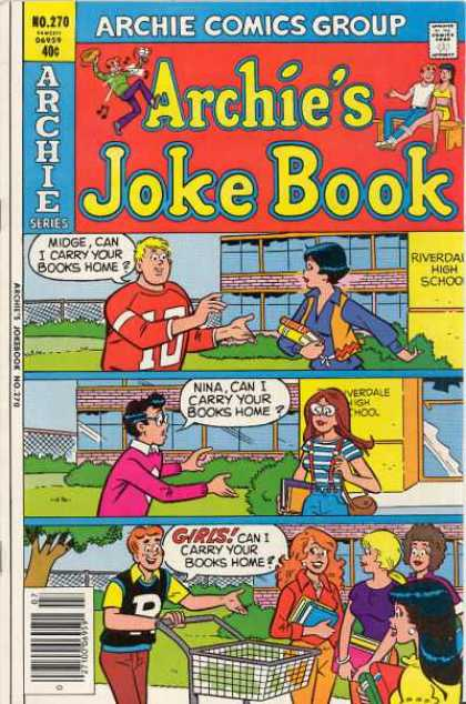 Archie's Joke Book 270 - Approved By The Comics Code - Man - Woman - Bench - Girls