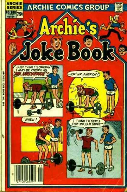 Archie's Joke Book 288 - Archie And Friends - Archies Jokes - Archie And Reggie - Jokes - Weight Lifting