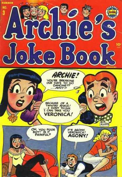 Archie's Joke Book 3 - Agony - Summer - Phone - Veronica