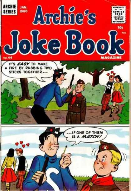 Archie's Joke Book 44 - Forest - Couple - Matchstick - Kid - Trail