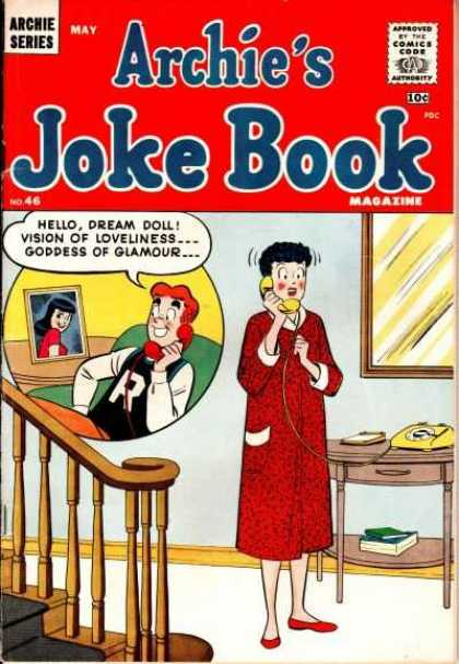 Archie's Joke Book 46 - Phone - Photo - Steps - Books - In A House