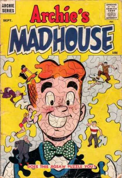 Archie's Madhouse 1 - Archie Series - Approved By The Comics Code - Puzzle - Man - Jigsaw