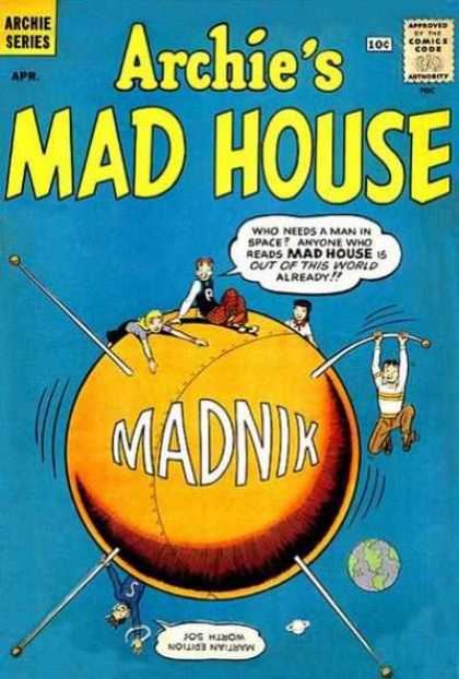 Archie's Madhouse 11 - Archie - Mad House - Madnik - Comics Code - Man In Space