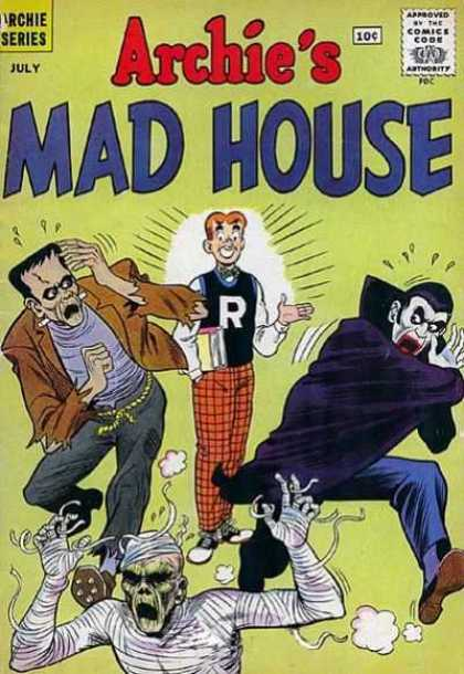 Archie's Madhouse 13 - Frankenstein - Dracula - Mummy - Plaid Trousers - Tank Top With R