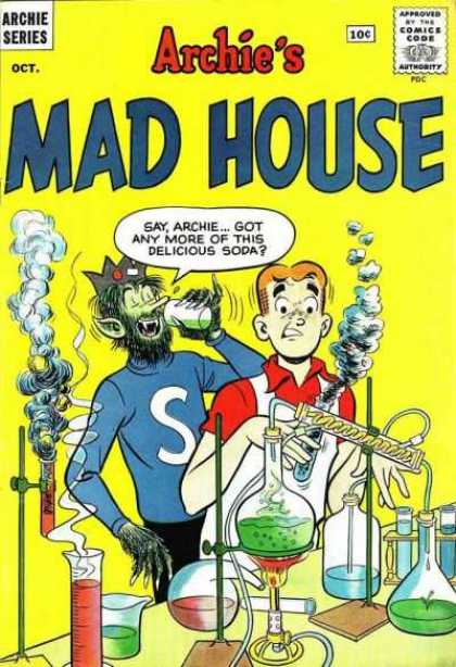 Archie's Madhouse 15 - Chemistry - Beakers - Test Tubes - Smoke - Bunson Burner