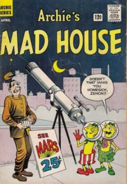 Archie's Madhouse 18 - City - Half Moon - Telescope - Aliens - Bell Hop