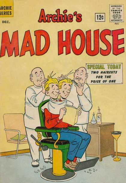 Archie's Madhouse 23 - Two Heads - Barbershop - Haircut - Scissors - Barbers