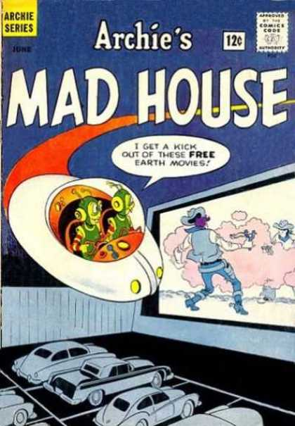 Archie's Madhouse 26 - Aliens - Flying Saucer - Cowboy - Spurs - Gunfight