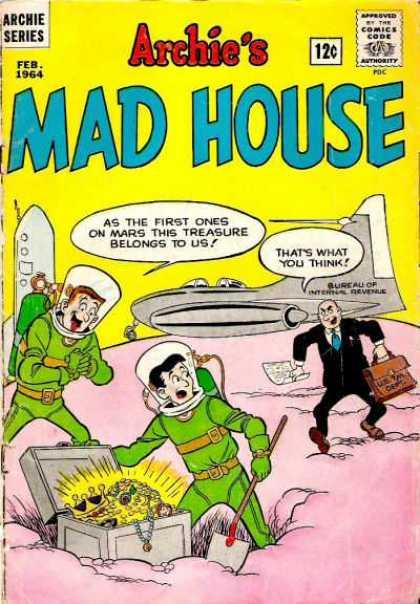 Archie's Madhouse 31 - Archie Series - Comics Code - Space Suits - Men - Space Ship