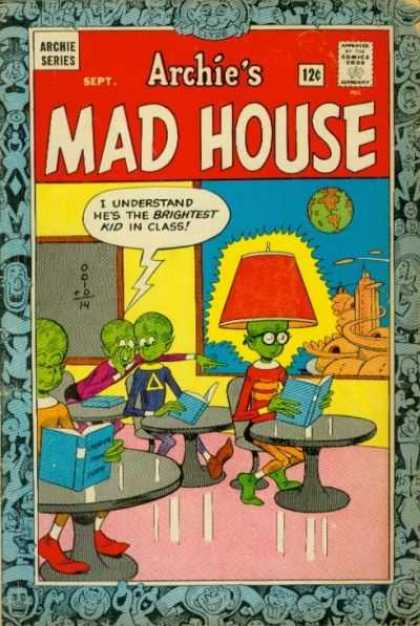 Archie's Madhouse 35 - Aliens - Desks - Classroom - Planets - Chalkboard