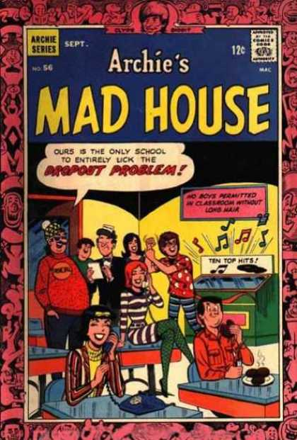 Archie's Madhouse 56 - Jukebox - Party - Desks - Yellow Walls - Telephone