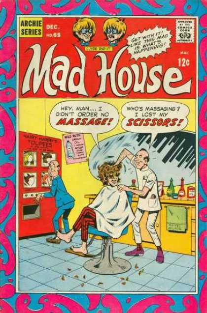 Archie's Madhouse 65 - Massage - Scissors - Toupees - Barber Shop - Chair