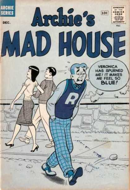 Archie's Madhouse 9 - Archie Series - Veronica - Blue Tones - R Letter Sweater - Plaid Pants