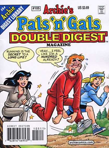 Archie's Pals 'n Gals Double Digest 105 - Running - Jogging - Secret - Betty - Veronica