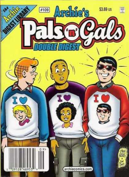 Archie's Pals 'n Gals Double Digest 109 - Pals - Shades - Sweatshirts - Hearts - Girls