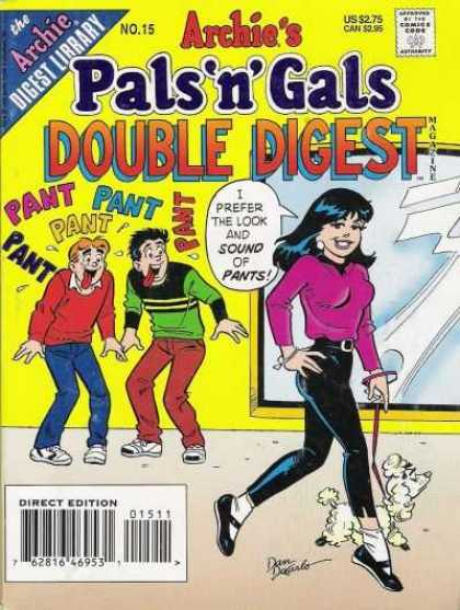 Archie's Pals 'n Gals Double Digest 15 - Lookers - Drool - Pretty Girls - Teenage Boys - Love At First Sight