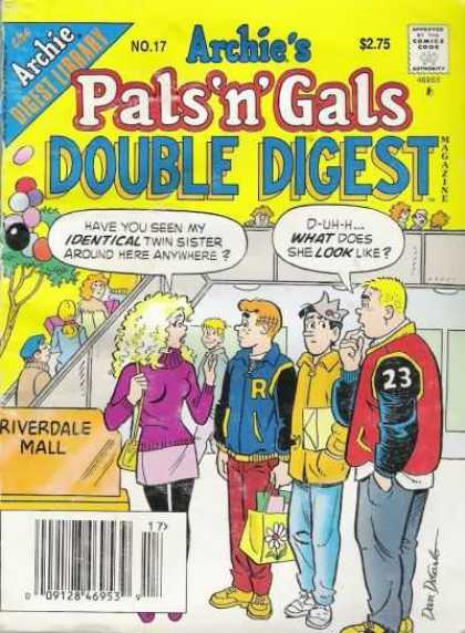Archie's Pals 'n Gals Double Digest 17 - Jug Head - Mall - Crown - Purple Sweater - Blonde Hair
