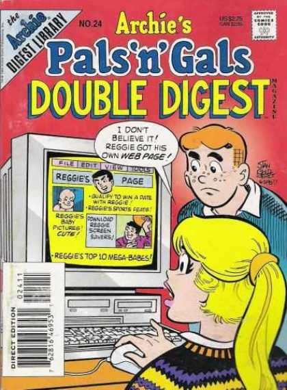 Archie's Pals 'n Gals Double Digest 24 - Betty - Reggie - Screen - Pc - Blonde