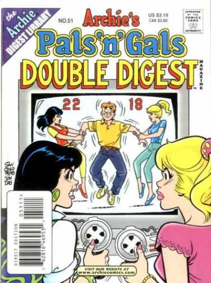 Archie's Pals 'n Gals Double Digest 51 - Video Game - Tug Of War - Anger - Television - Jeans