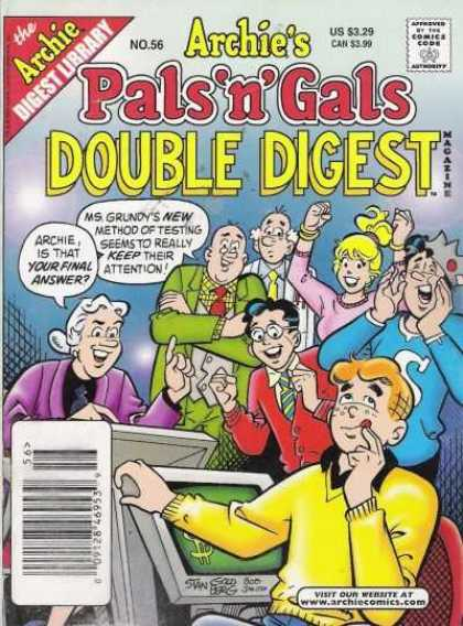 Archie's Pals 'n Gals Double Digest 56 - Archie - Ms Grundy - Final Answer - Game - Game Show