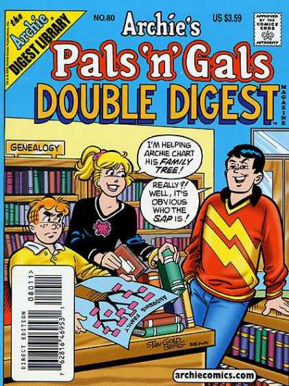 Archie's Pals 'n Gals Double Digest 80 - Girl - Boys - Library - Books - Sweaters